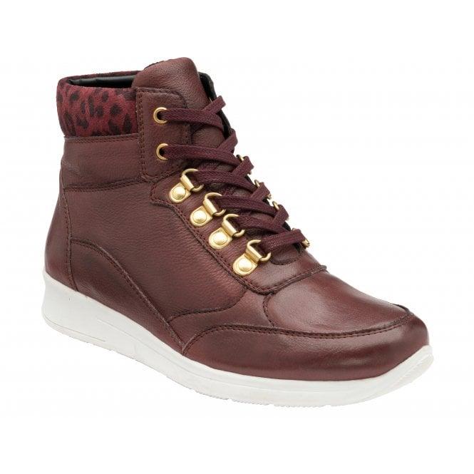 SASKIA Bordo/Leopard Leather